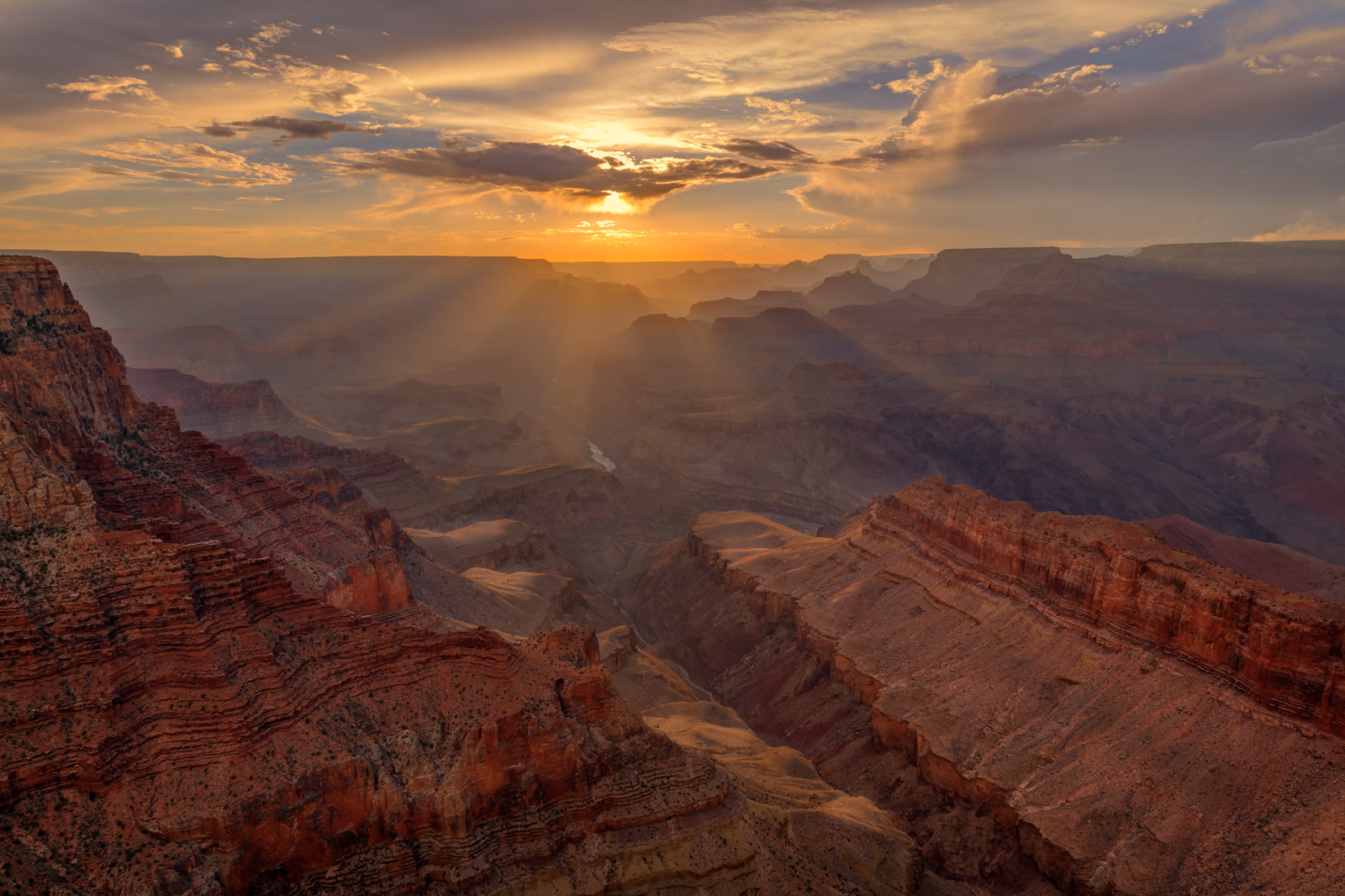 Arizona, Grand Canyon, Sunset, Lipan, Point, photo