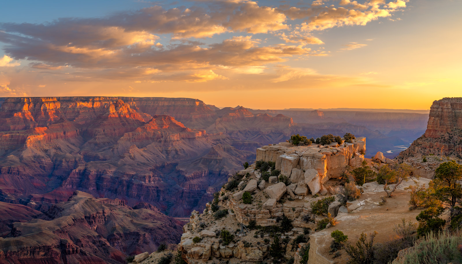 A Limited Edition, Fine Art photograph of a stunning, early morning sunrise at Moran Point at Grand Canyon National Park in Arizona...