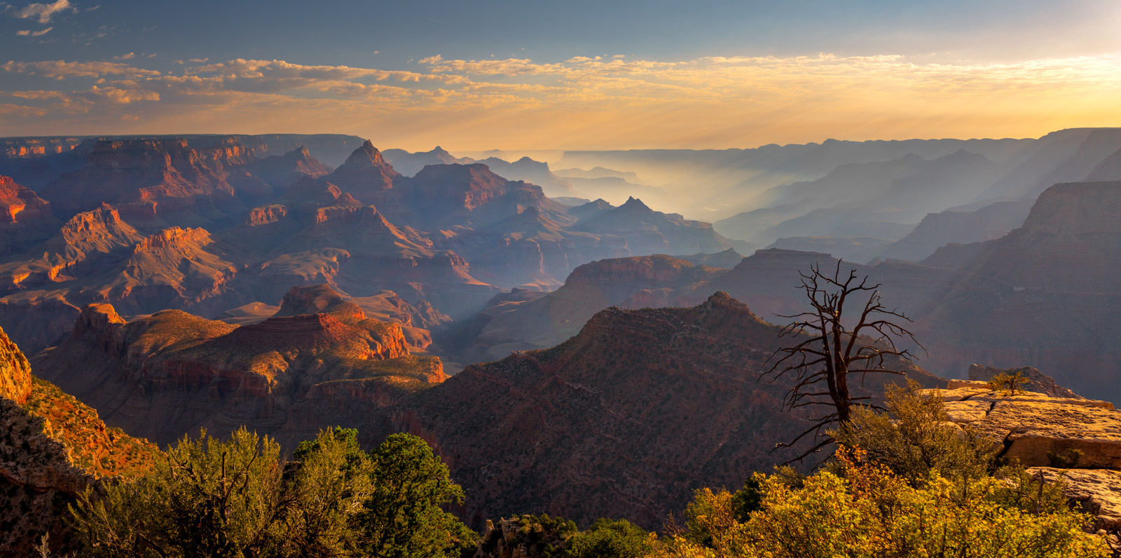 Arizona, Grand Canyon, Sunrise, Panoramic