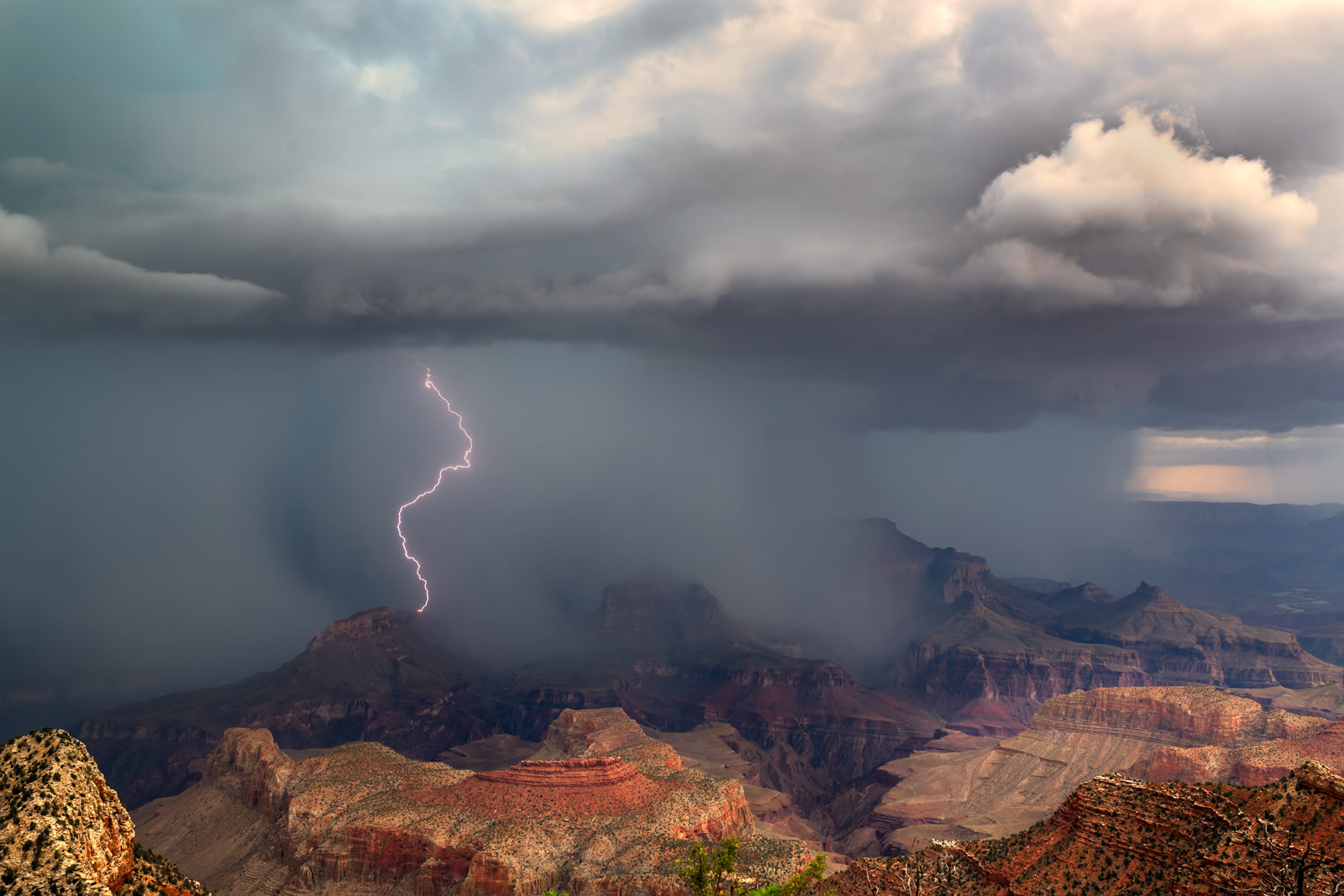 Arizona, Grand Canyon, Lightning