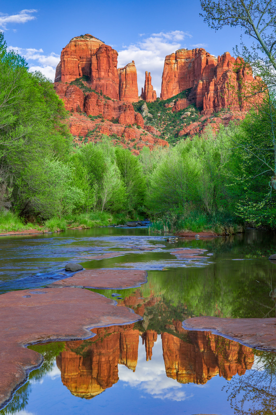 Arizona, Sedona, Red Rock, Cathedral Rock, Reflection, Oak Creek