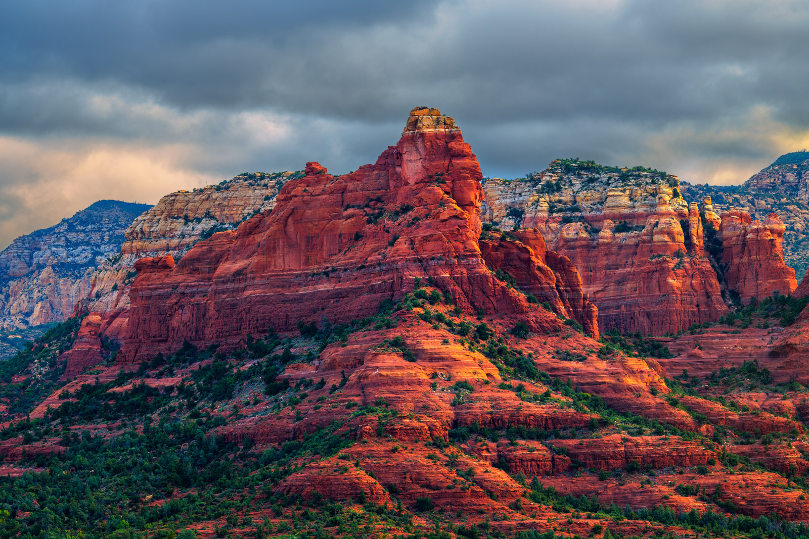 Arizona, Sedona, Sunrise, Red, Rock