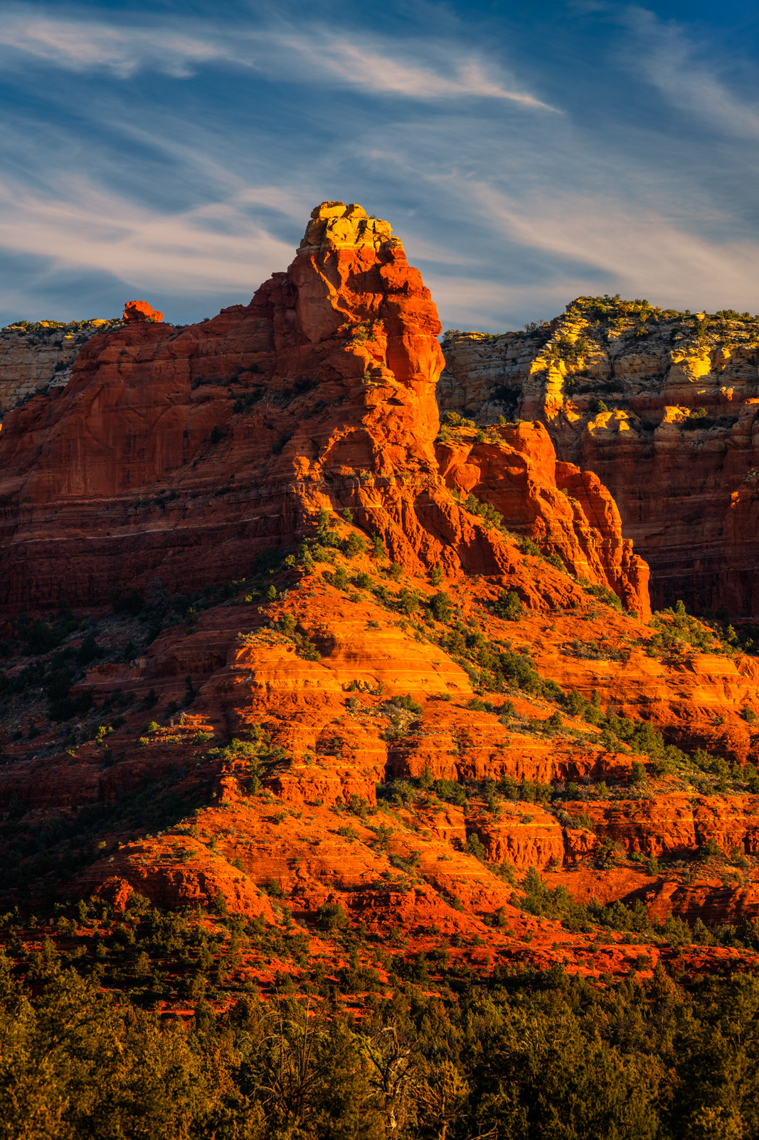 Arizona, Sedona, Red Rock, Shadows, Clouds, Sun, Rising, limited edition, photograph, fine art, landscape, photo