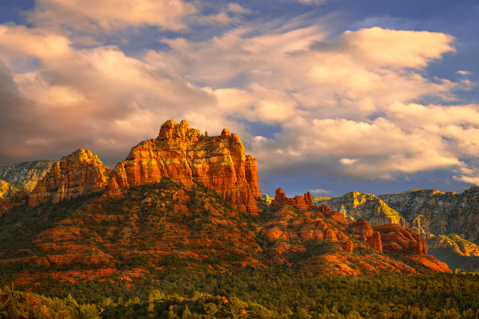 Arizona, Sedona, Red Rock, Mountains, Sunset, limited edition, photograph, fine art, landscape, photo