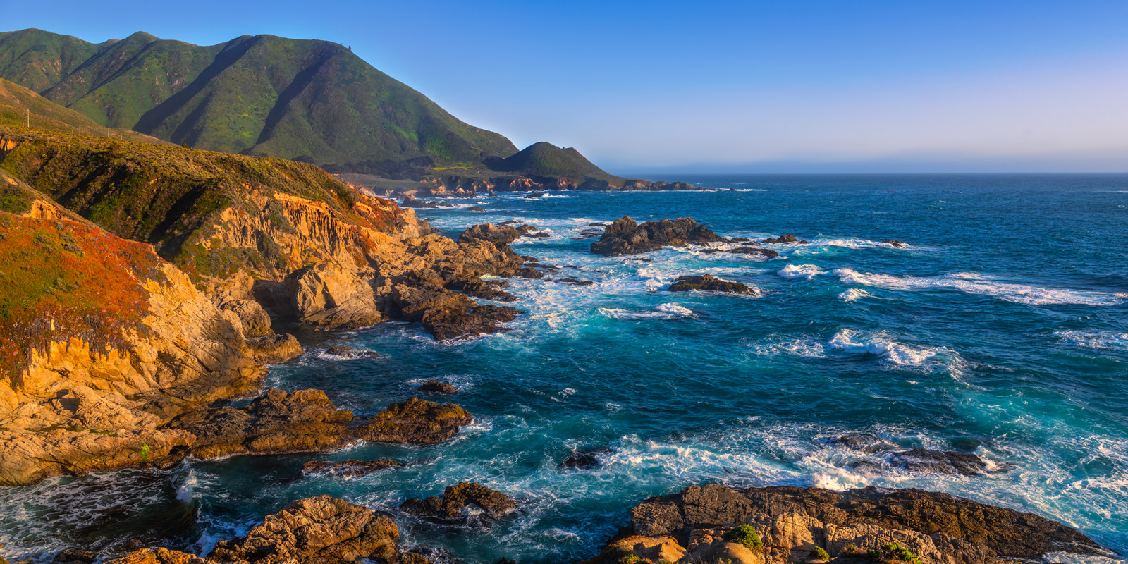 A Limited Edition, Fine Art panoramic photograph of late afternoon on the Big Sur Coast in California. Available as a Fine Art...