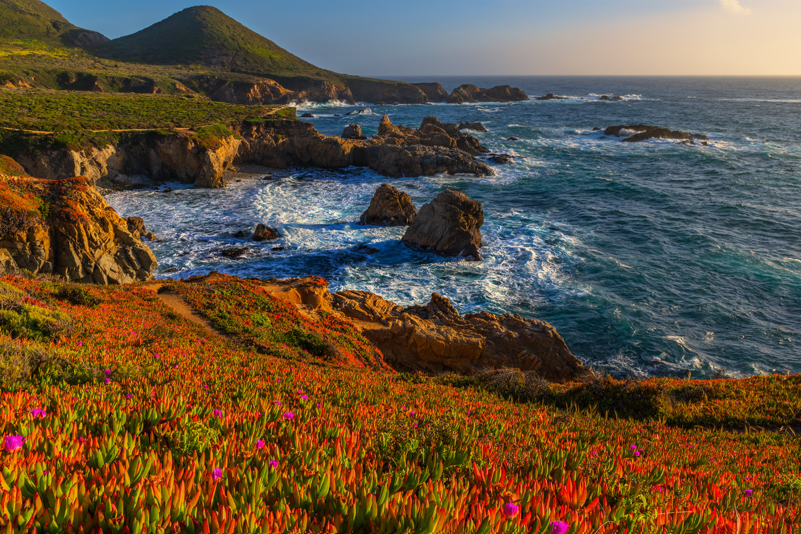 A Limited Edition, Fine Art photograph of Spring colors on the Big Sur Coast at Soberanos Point in California. Available as a...