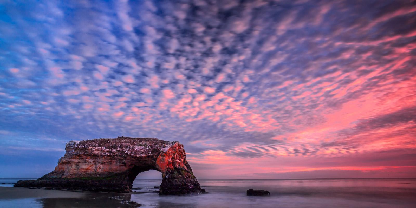 California, Santa Cruz, Natural Bridge, Sunset, Coast, limited edition, photograph, fine art, landscape, photo