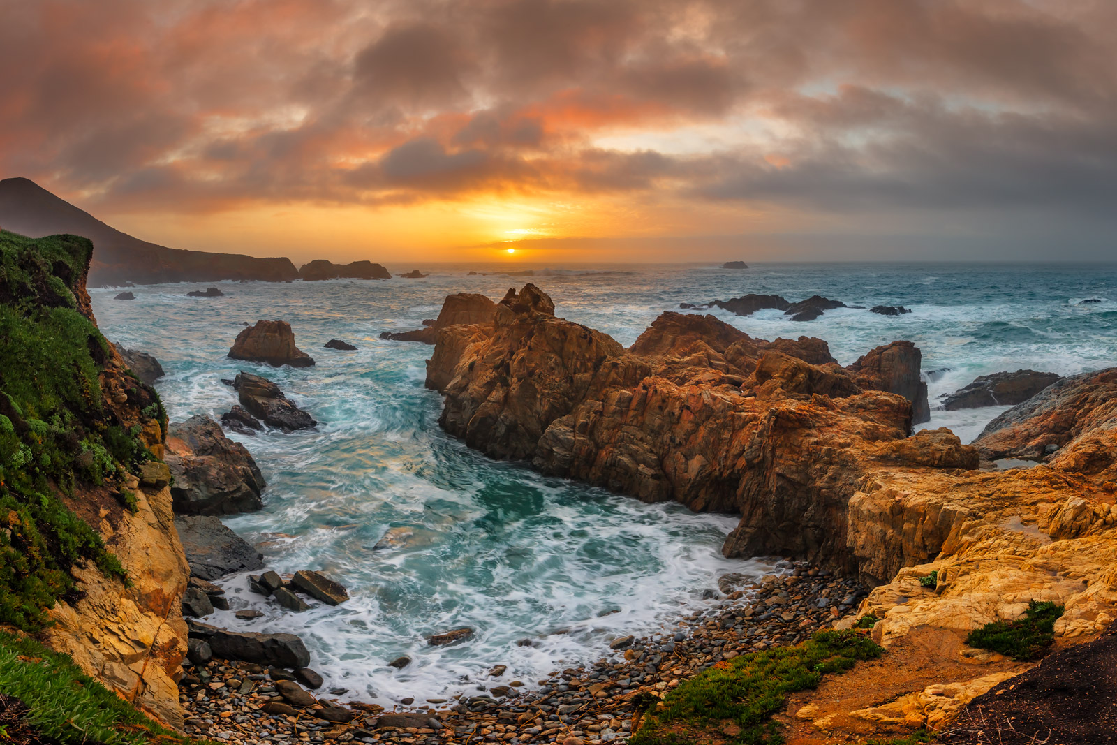 California, Big Sur, Sunset, Garrapata, Soberano