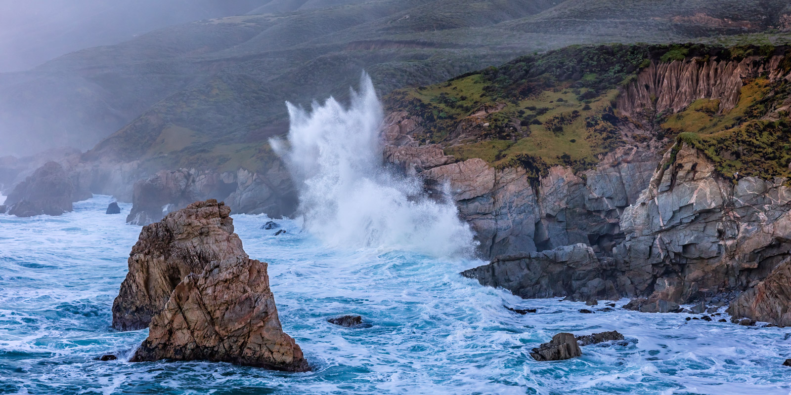 California, Garrapata, Storm, Wave, rocky coast, limited edition, photograph, fine art, landscape, coast, photo