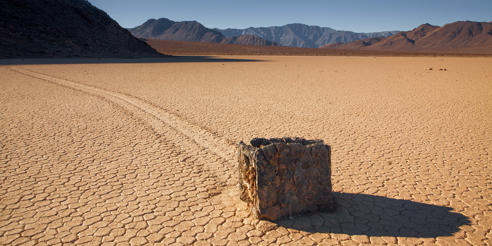 """A Limited Edition, Fine Art photograph of one of the """"moving rocks"""" on The Racetrack at Death Valley National Park shaped like..."""