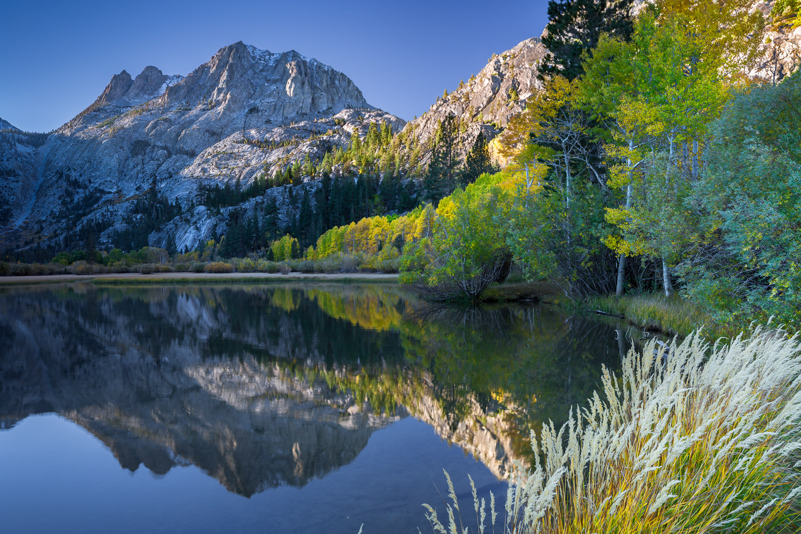 California, Eastern Sierra, Mountain, Silver Lake, Fall, Reflection, limited edition, photograph, fine art, landscape, photo