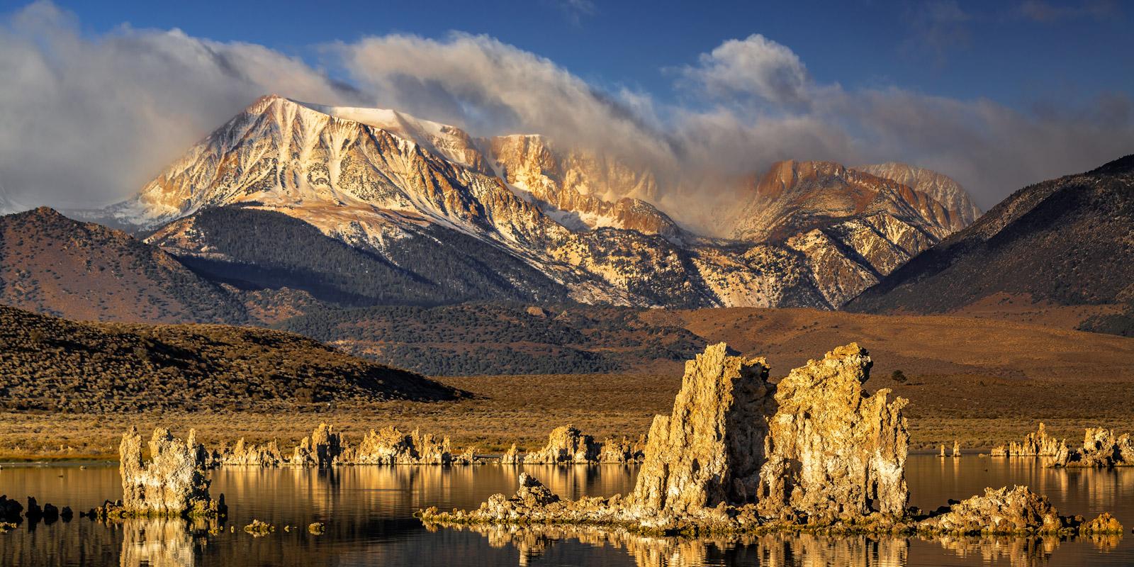 California, Eastern Sierra, Mono Lake, Mountain, Tufa, Sunrise, photo