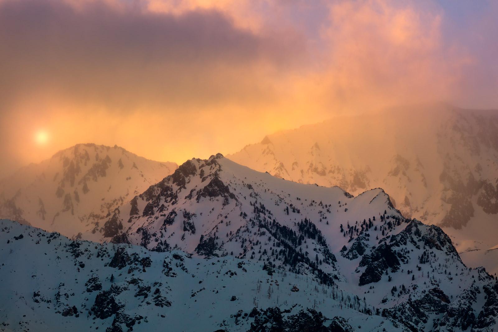 California, Eastern Sierra, Winter, Sunset, Mountain, limited edition, photograph, fine art, landscape, photo