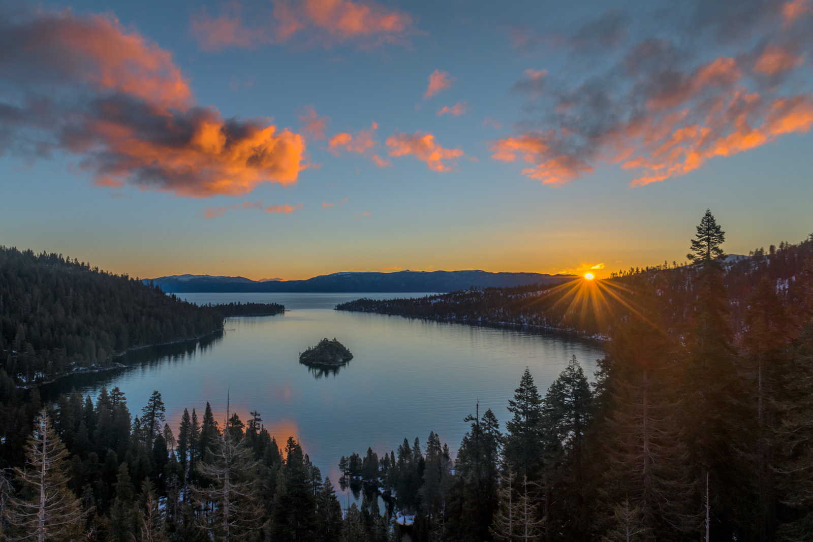 California, Lake, Tahoe, Emerald, Bay, Sunrise, limited edition, photograph, photo