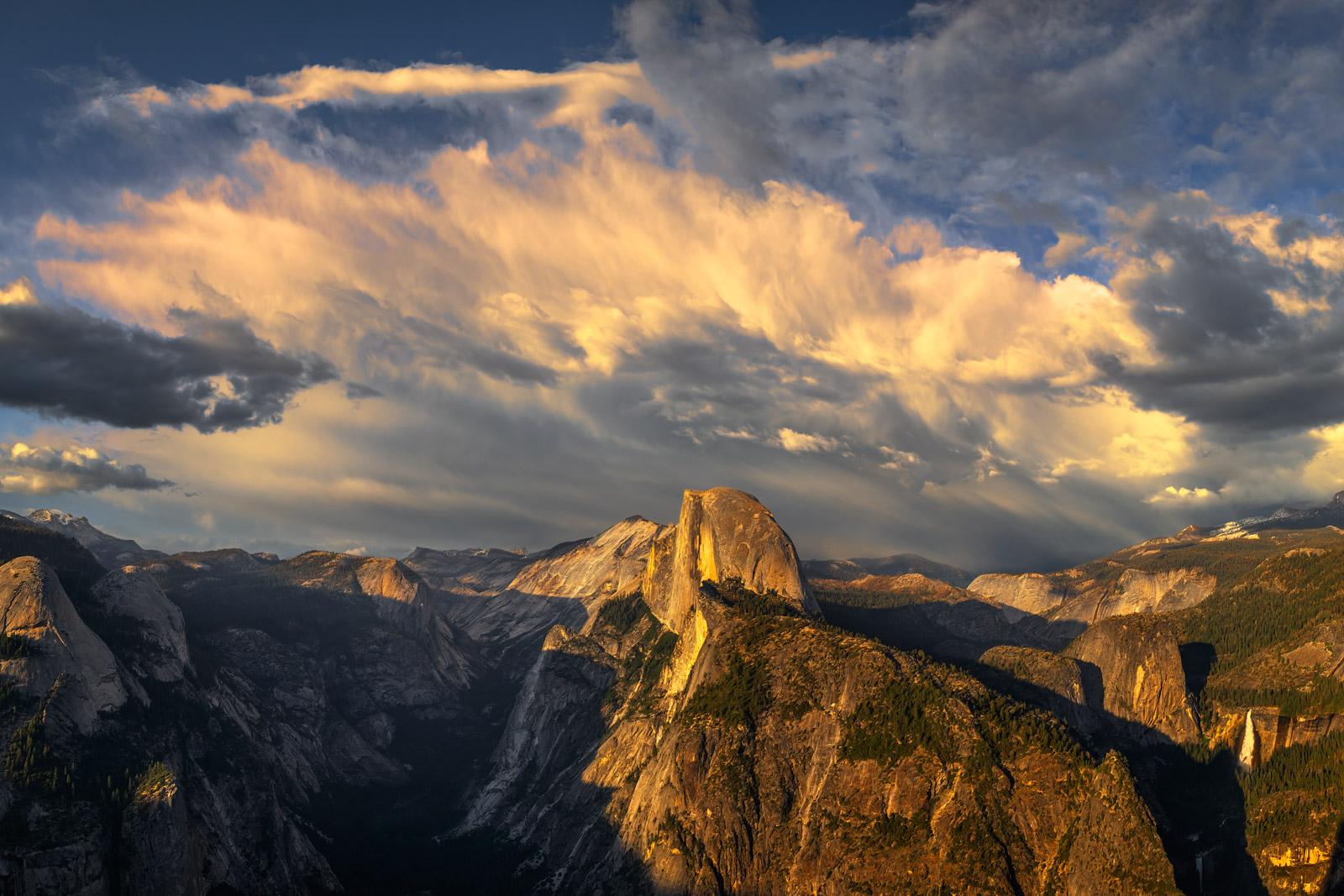 A Limited Edition, Fine Art photograph of Half Dome from Glacier Point at sunset at Yosemite National Park in California. Available...