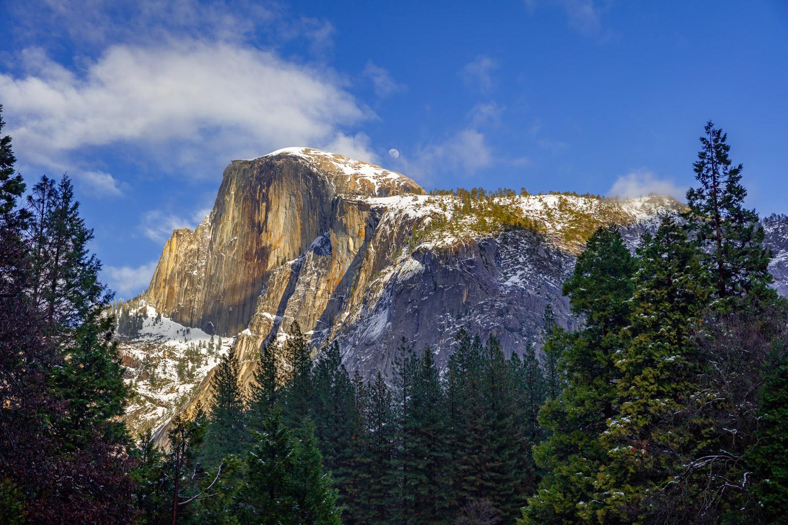 California, Yosemite, Half-dome, Winter, Moonrise, limited edition, photograph, fine art, landscape, photo