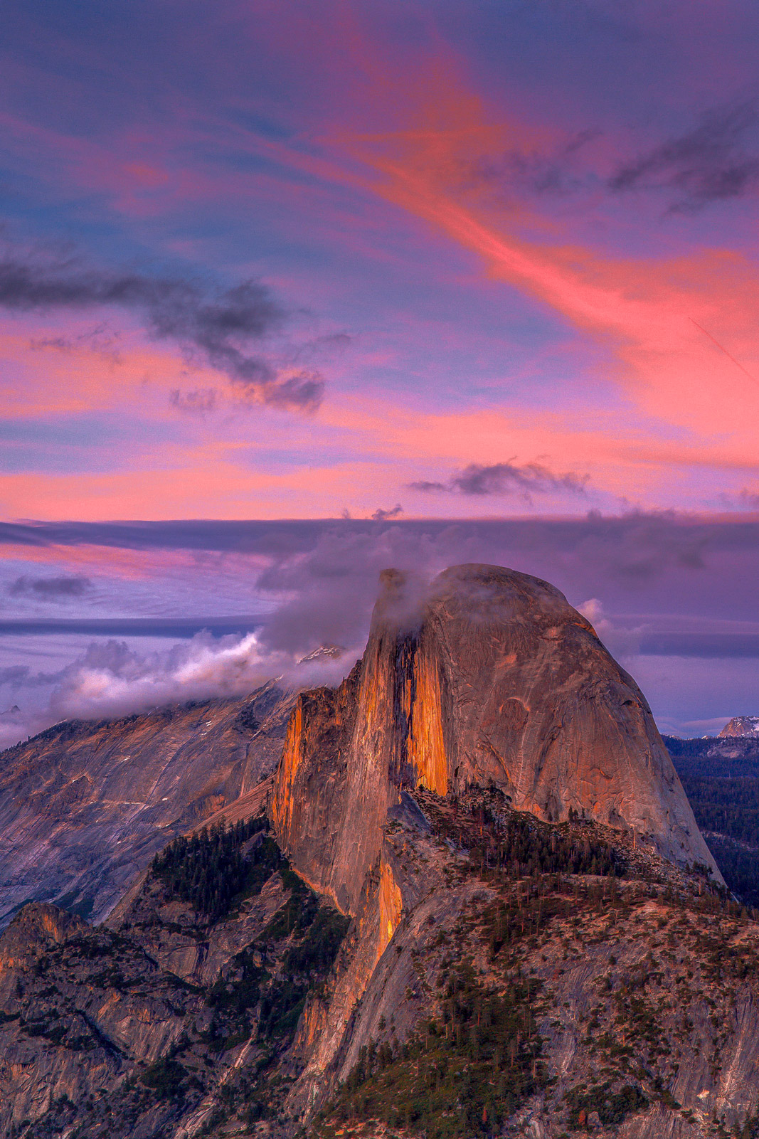 California, Yosemite, Half Dome, Sunset, limited edition, photograph, fine art, landscape, glacier point, photo