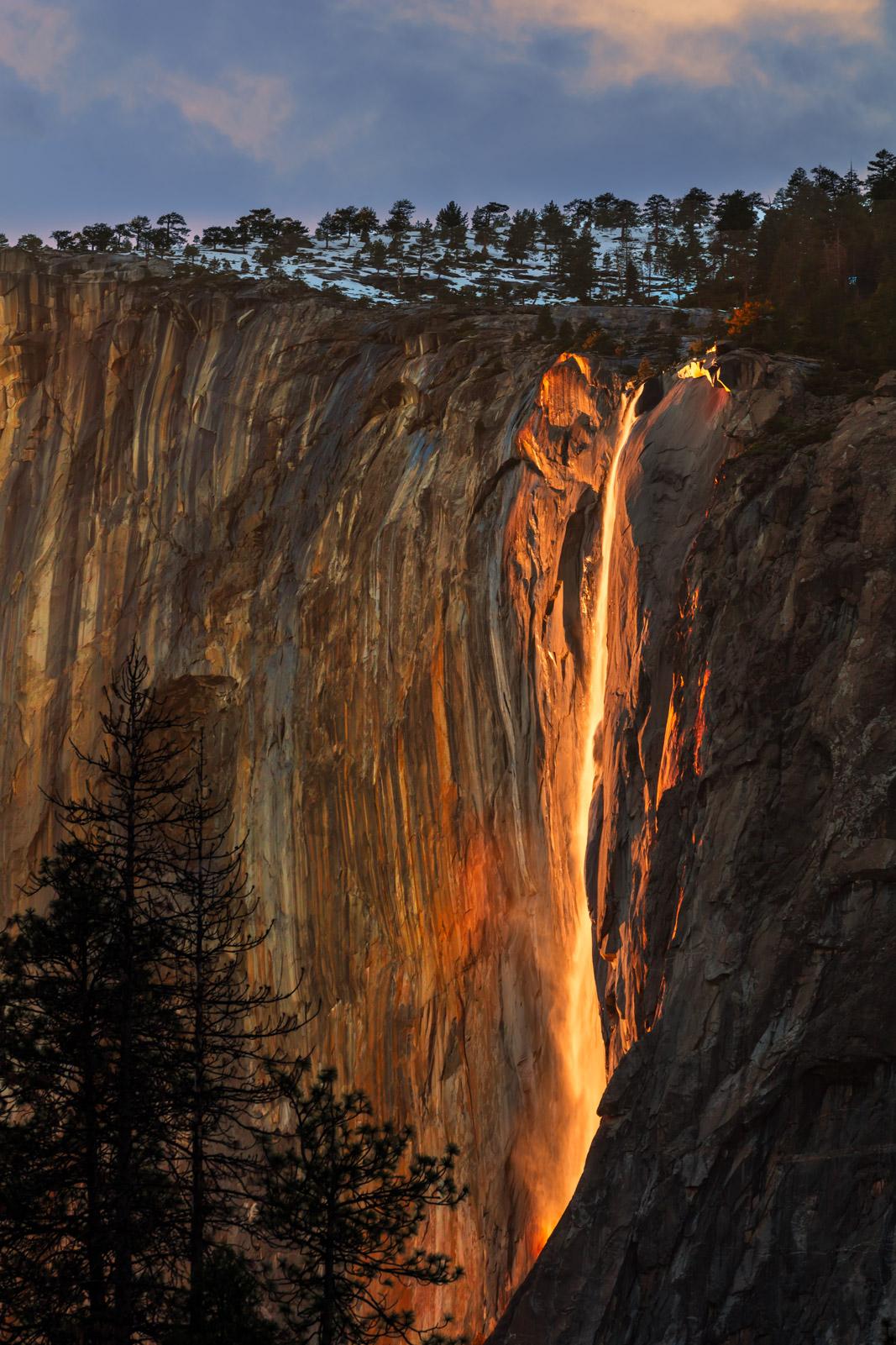 California, Yosemite, El Capitan, Firefall