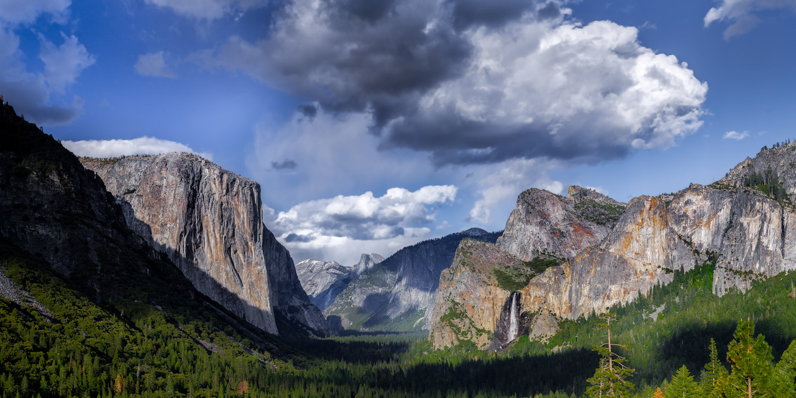 California, Yosemite, Valley, Half Dome, El Capitan, Bridalveil, Falls
