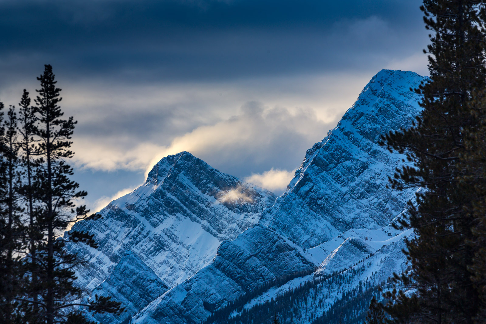 Canada, Mountain, Winter, Storm, photo