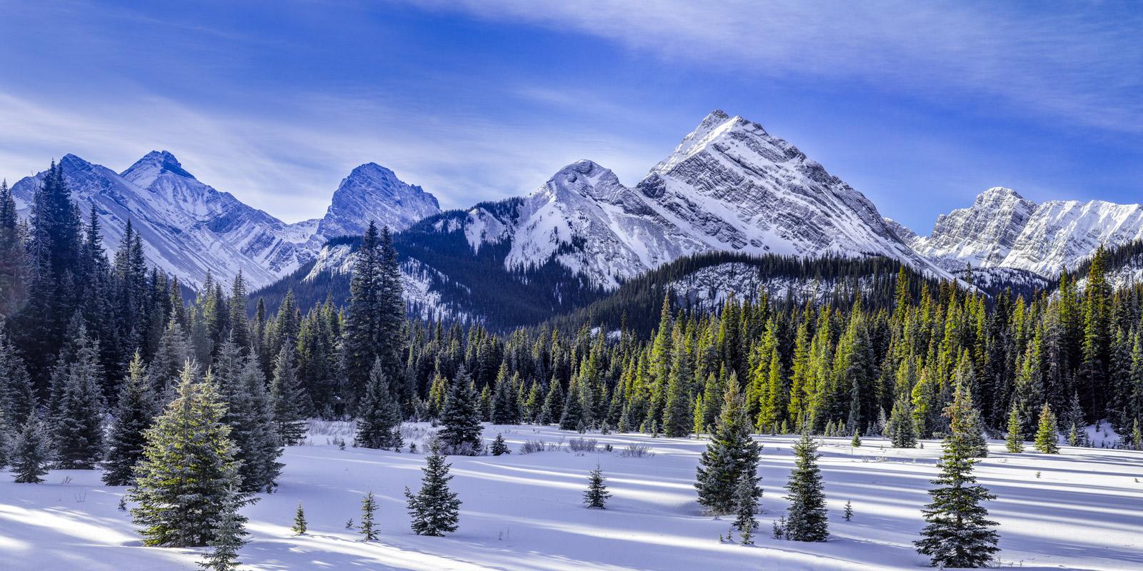 Alberta, Canada, Canadian, Rockies, Mountain, Winter, Shadows, limited edition, photograph, fine art, landscape, photo
