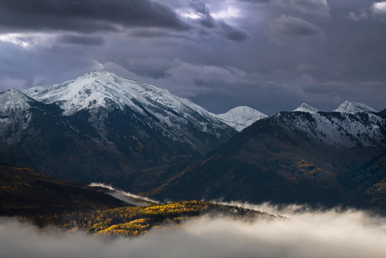 Colorado, McClure, Pass, Mountain, Fog, Fall, Color