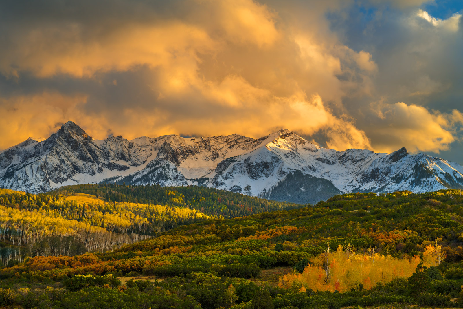 Colorado, Dallas Divide, Fall, Color, Sunset, photo