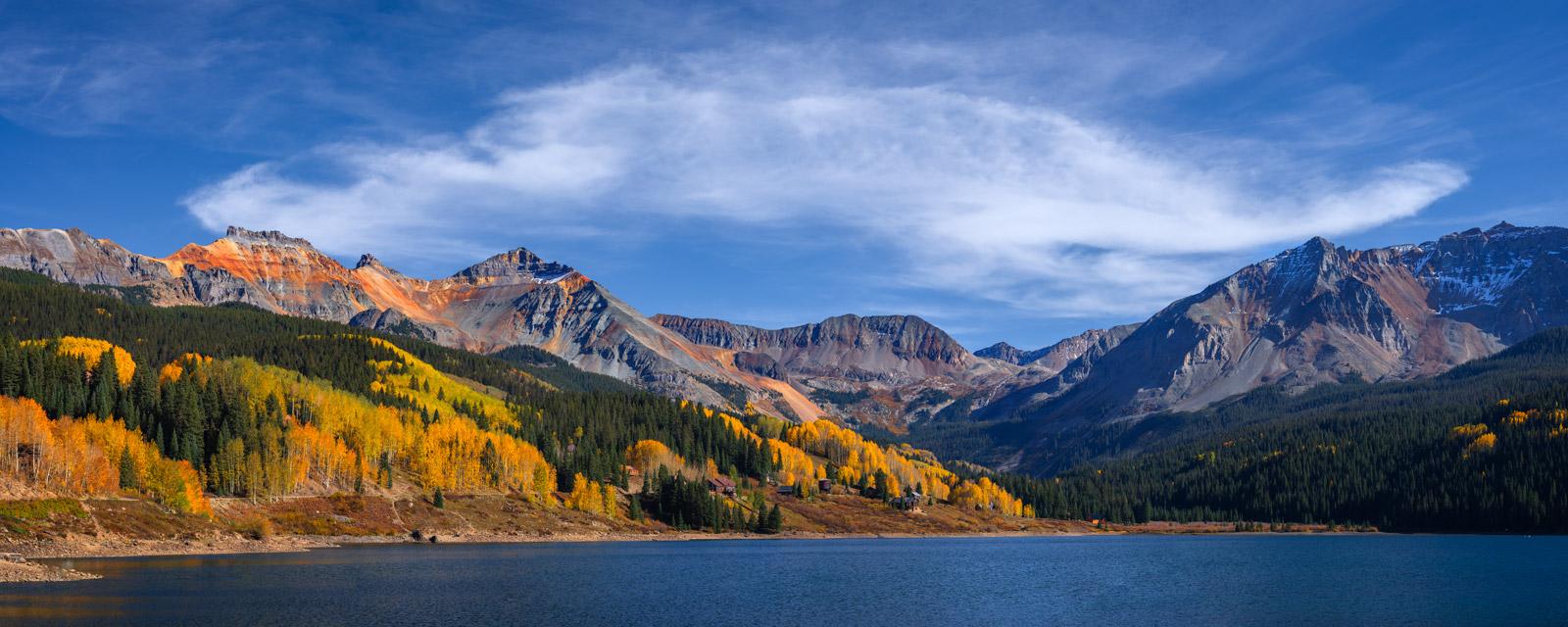 Colorado, southwest Colorado, trout lake, fall colors, mountains, San Juan Mountains, photo