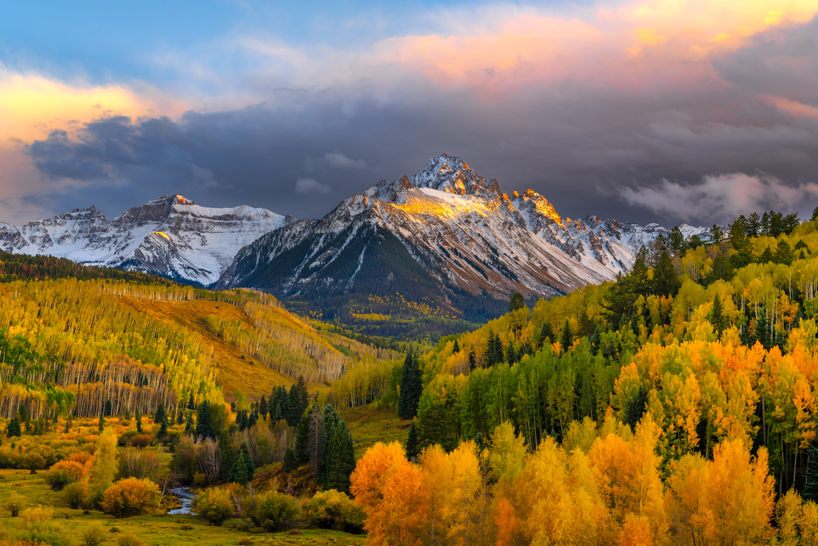 Colorado, San Juan, Mountains, Mount Sneffles, Fall, photo