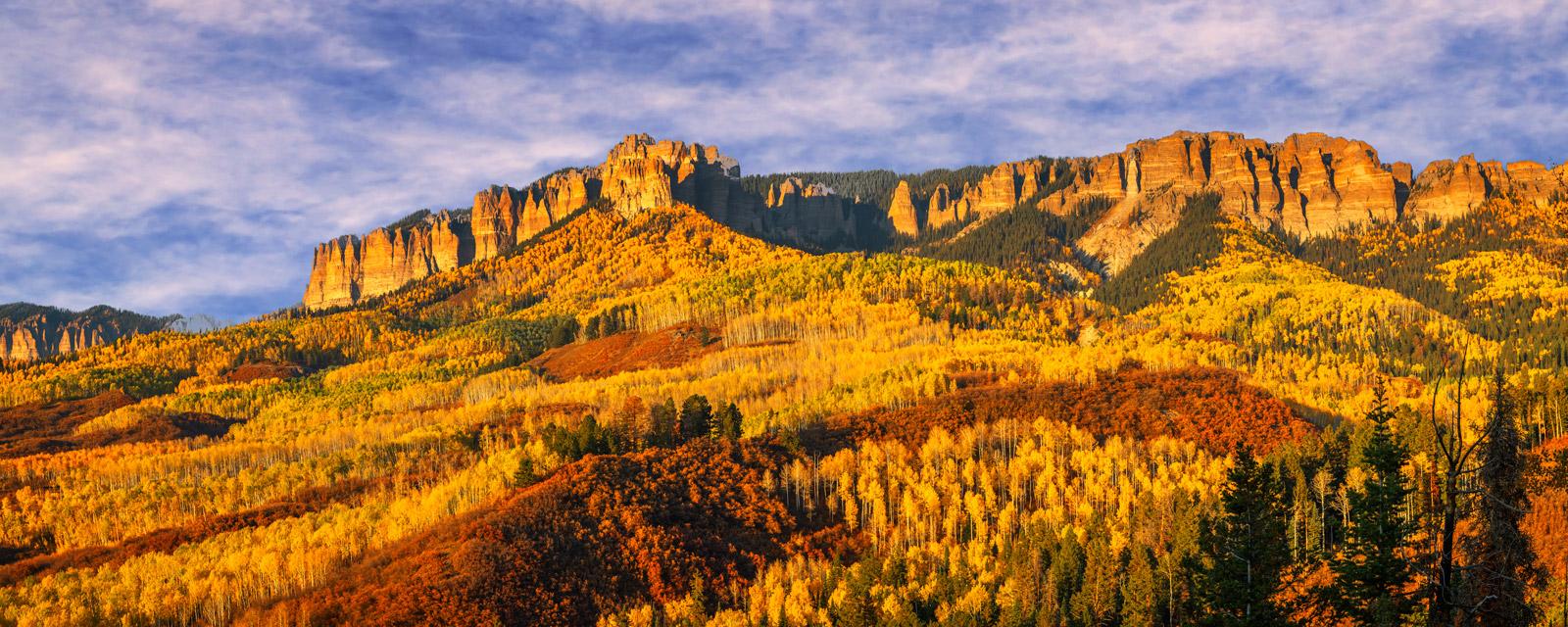 Colorado, Southwest Colorado, Landscape, Photograph, Cimarron Ridge, San Juan Mountains, Fine Art, Fine Art Print, Metal Print, Acrylic Print, Fall Color, photo, photo
