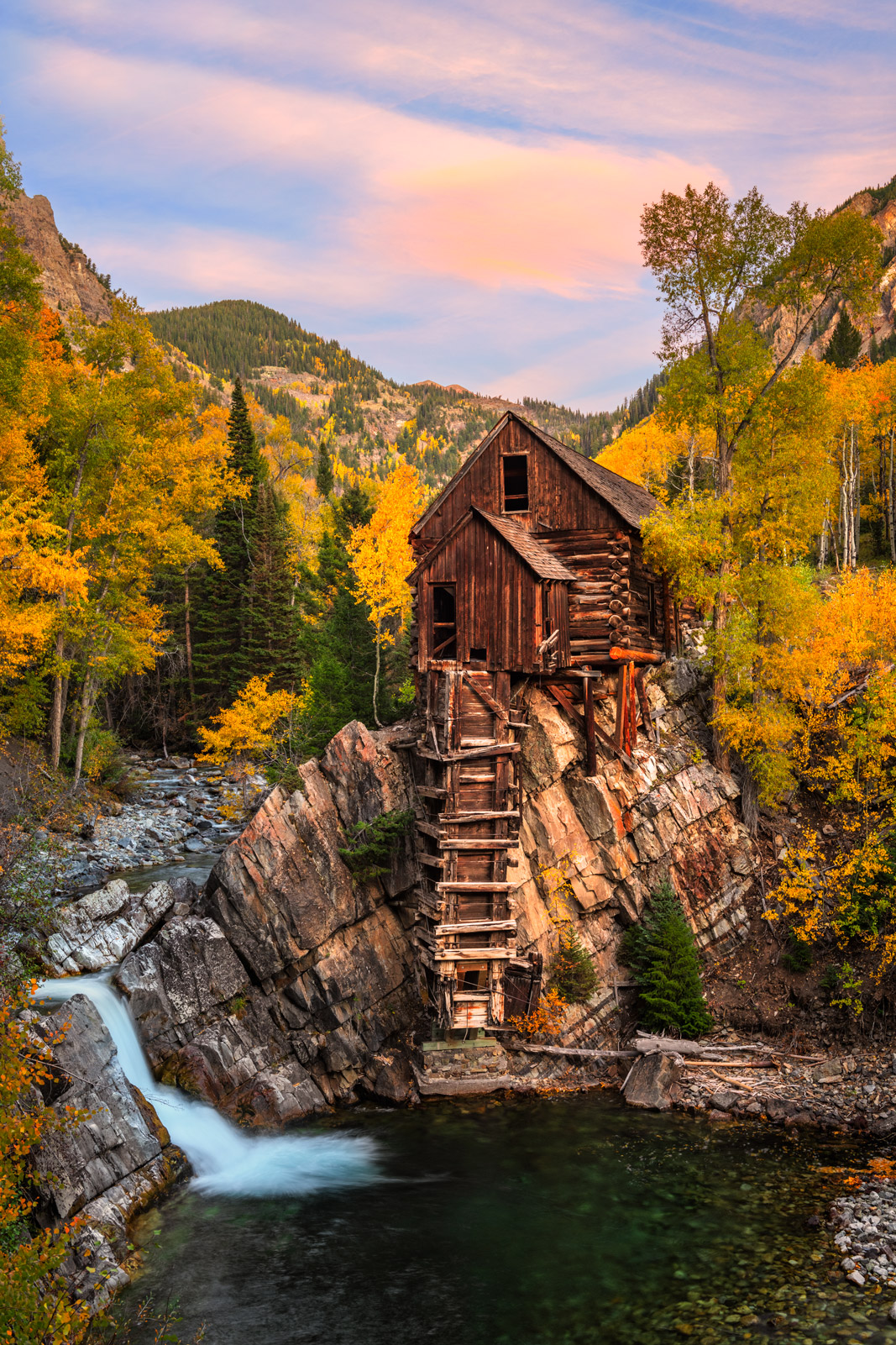 Colorado, Photograph, Fine Art, Fine Art Print, Metal Print, Acrylic Print, Crystal Mill, Southwest Colorado, photo, Fall Color, photo