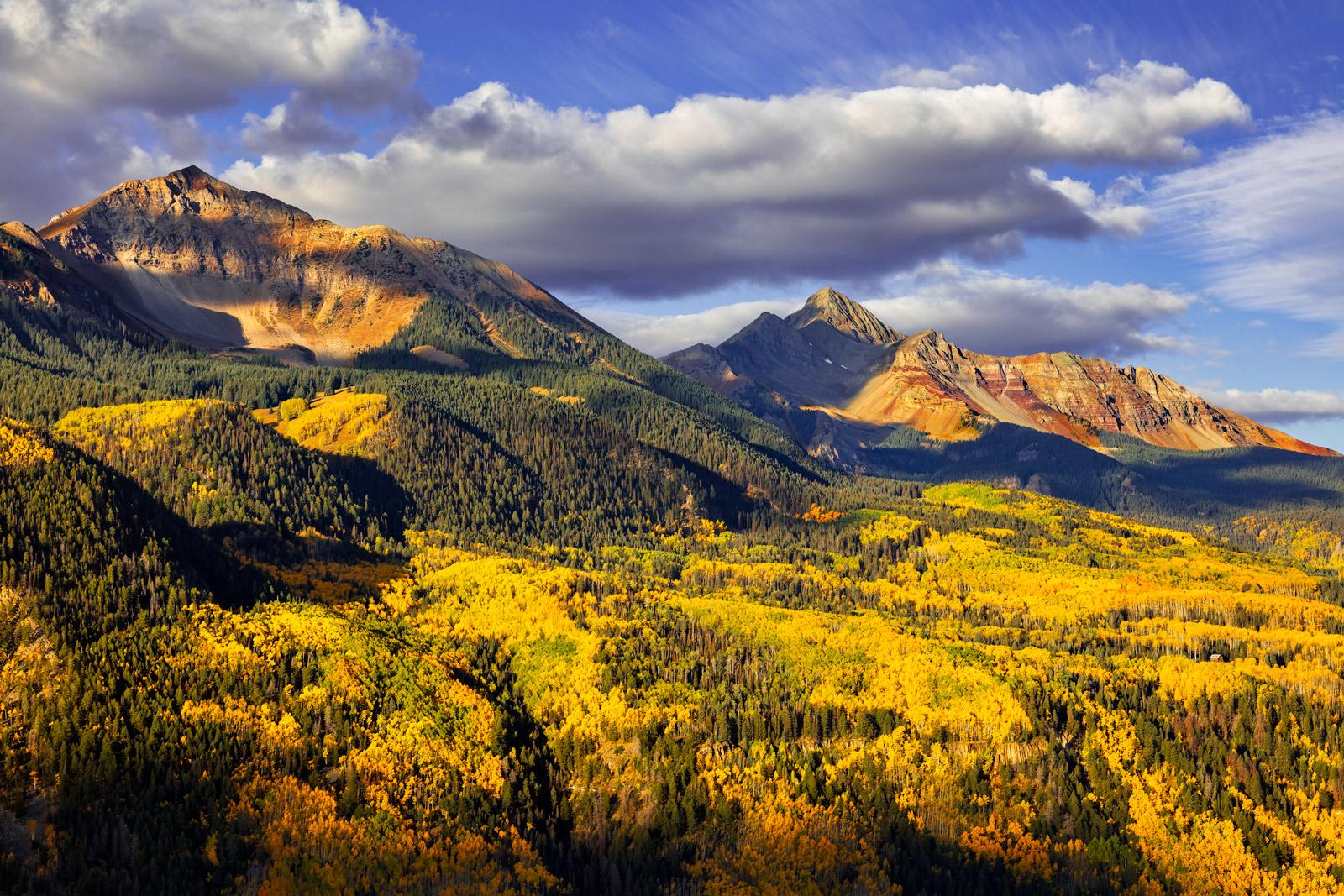 Colorado, Wilson Peak, Fall, Color, limited edition, photograph, southwest colorado, fine art, landscape, fall color, photo