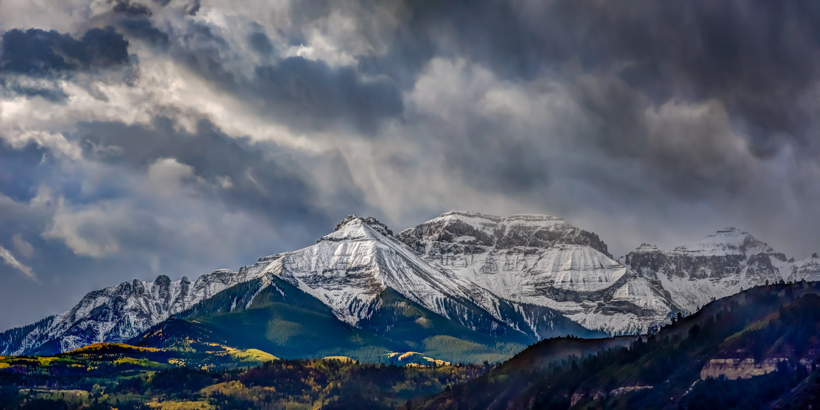 Colorado, Ridgway, Whitehorse, Mountain, Storm, Fall, Color