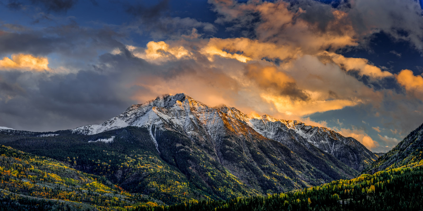 Colorado, Mountain, Fall, Color, Snow Covered, limited edition, photograph, fine art, landscape, photo