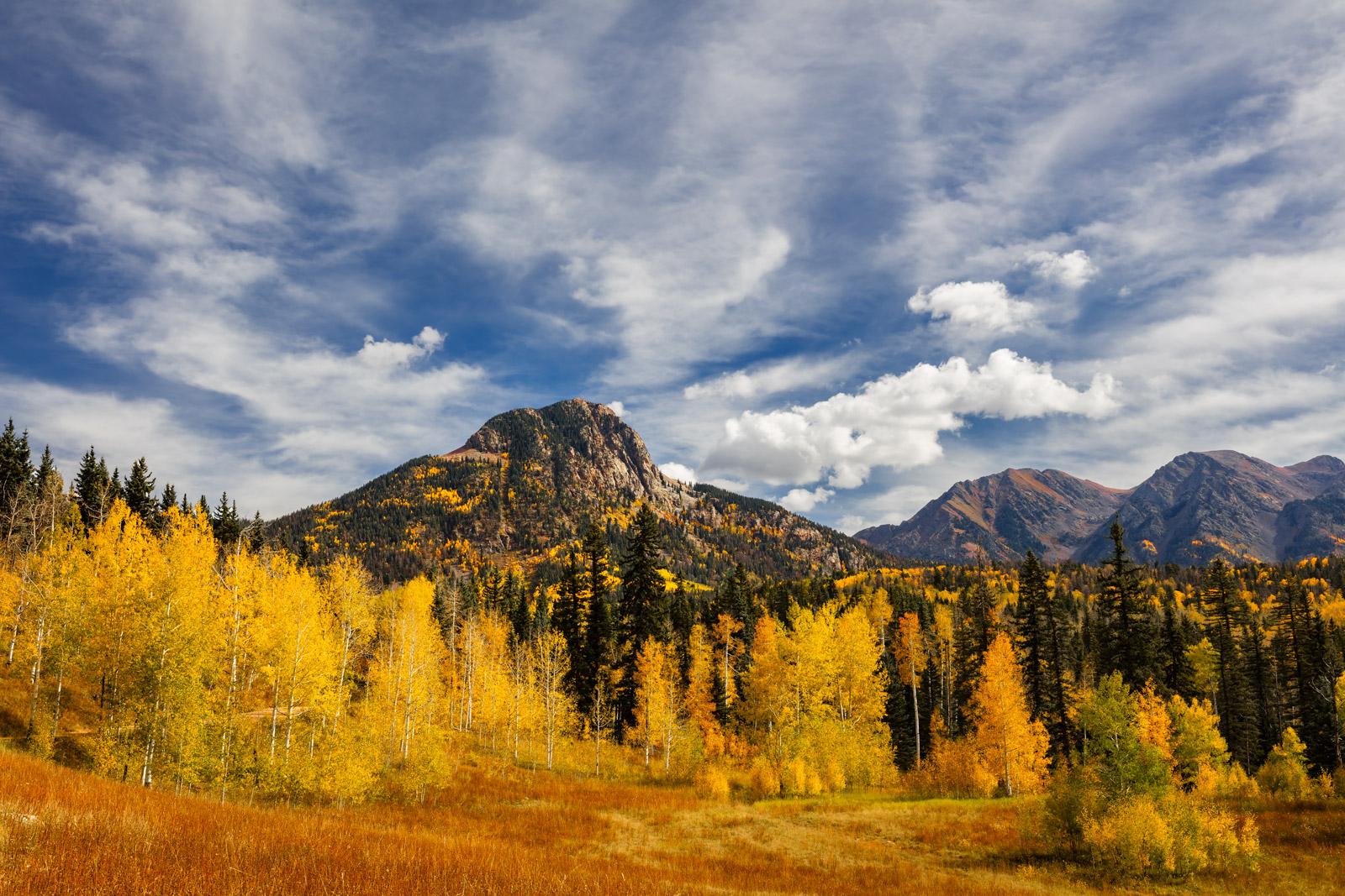 Colorado, Silverton, Fall, Color, Potato Hill, southwest Colorado, fall color, photo