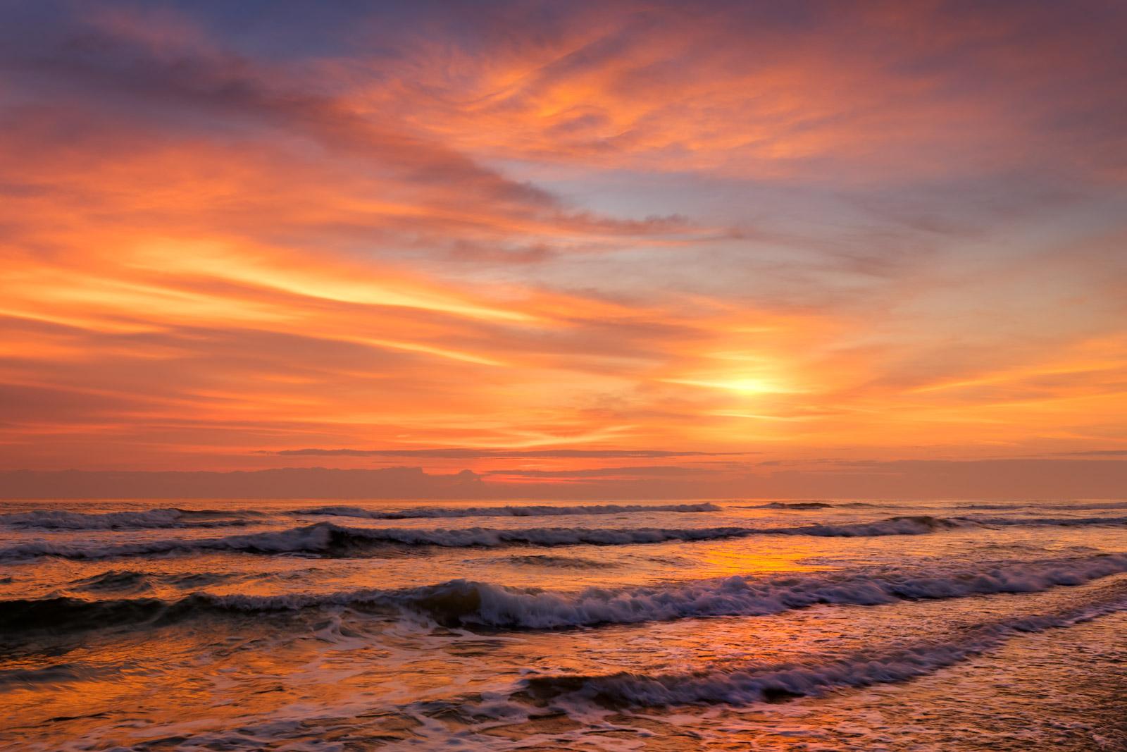 Florida, Atlantic, Coast, Sunrise, Ocean, Beach, coast, daytona beach, photo