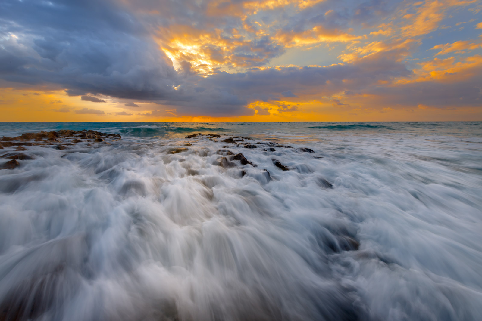 Florida, Palm Beach, Sunrise, Atlantic, Ocean, Beach, Coast, photo