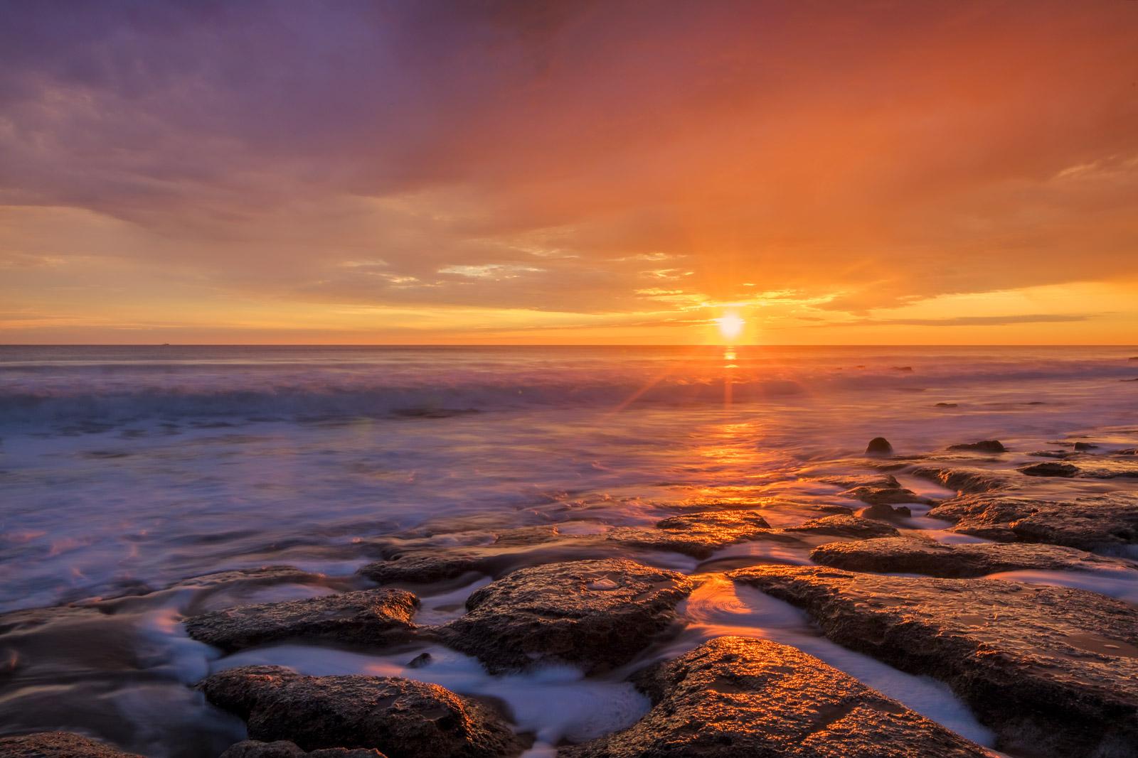 Florida, Washington Oaks, sunrise, coquina, coast, Atlantic Coast, photo