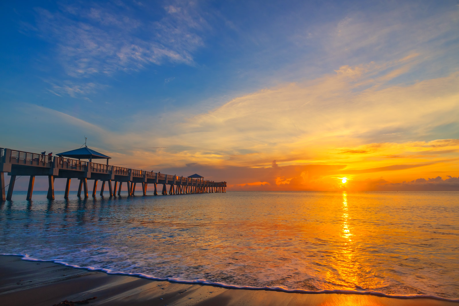 A Limited Edition, Fine Art photograph of a beautiful sunrise over the Juno Beach pier in Juno Beach, Florida. Available as a...
