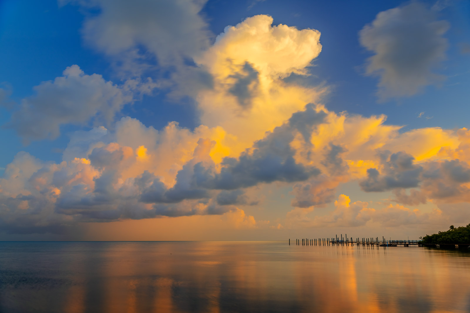 A Limited Edition, Fine Art photograph of early morning storm clouds building up in Florida Bay in the Florida Keys. Available...