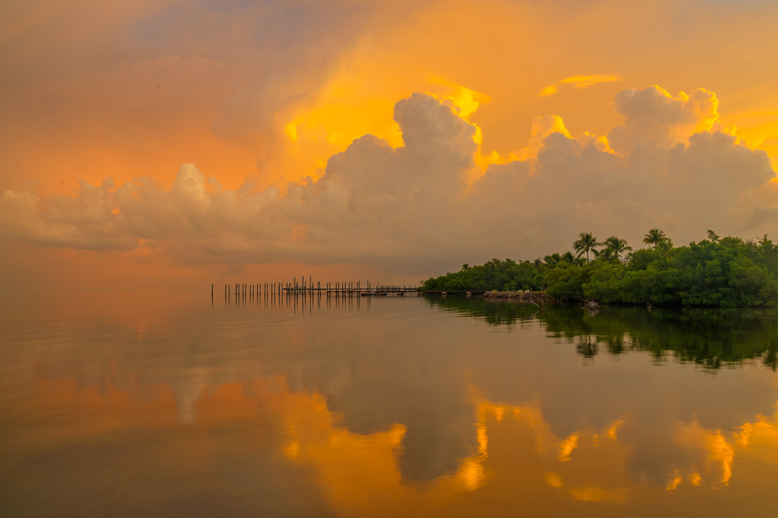 A Limited Edition, Fine Art photograph of sunrise over Florida Bay in the Florida Keys. Available as a Fine Art print, Metal...