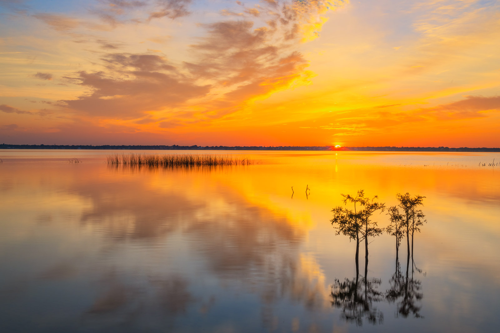 A Limited Edition, Fine Art photograph of a beautiful sunrise at Lake Jackson in Sebring, Florida. Available as a Fine Art print...