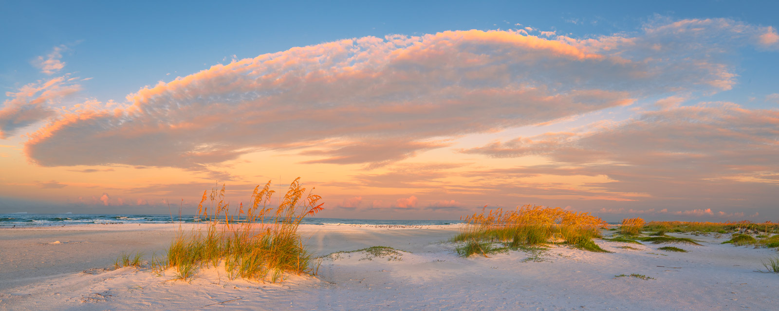 A Limited Edition, Fine Art photograph of a soft, colorful sunrise on the Gulf Coast at Lido Key, Florida. Available as a Fine...