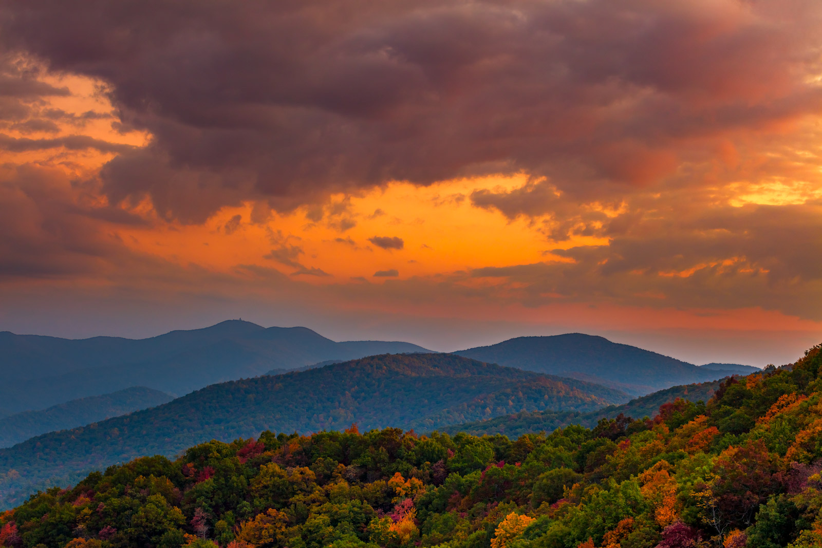Georgia, Mountain, Sunrise, Fall