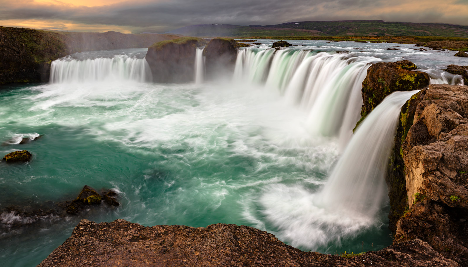 iceland, waterfall, godafoss, sunrise, limited edition, photograph, fine art, landscape, photo