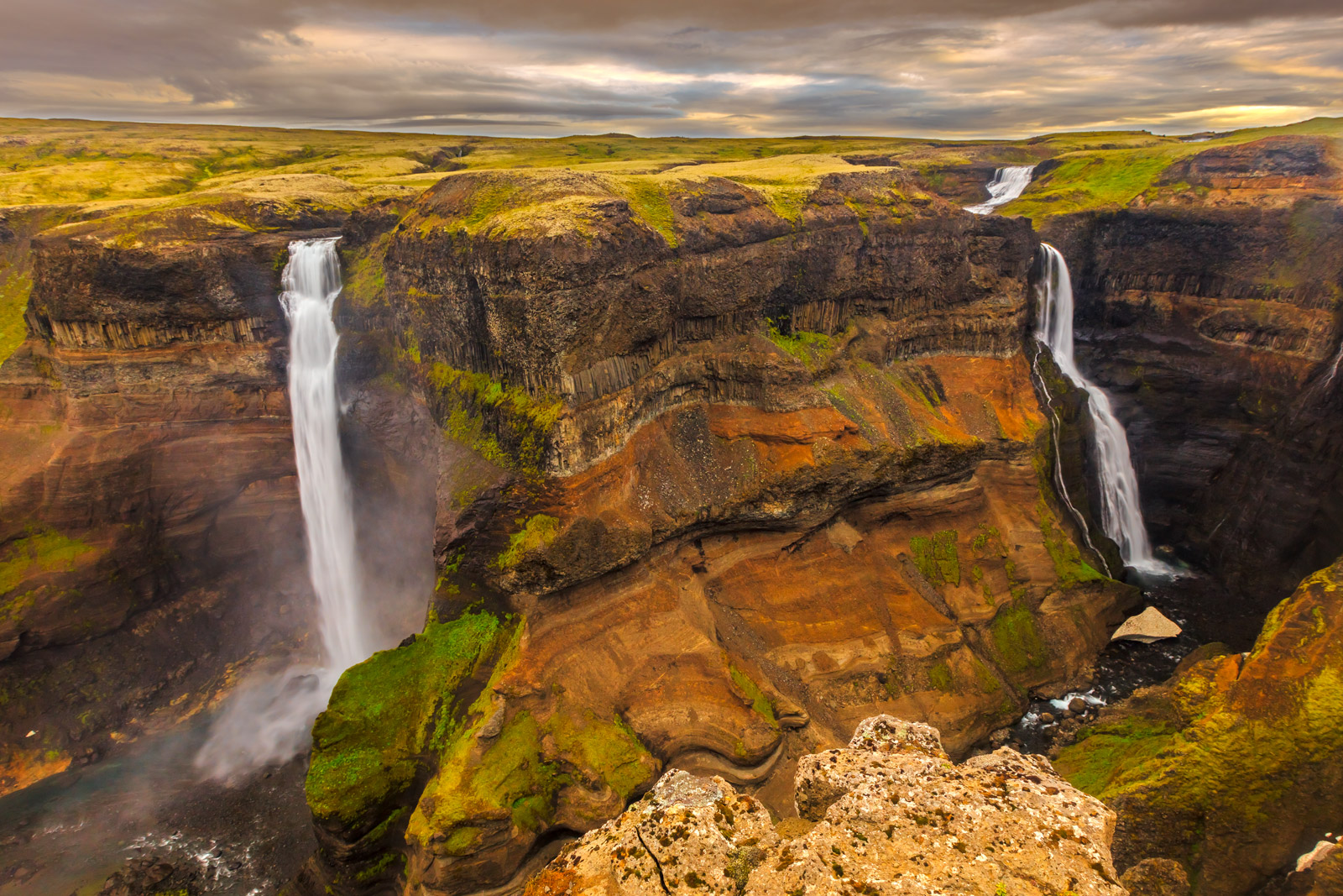 iceland, waterfall, haifoss, canyon, limited edition, photograph, fine art, landscape, photo