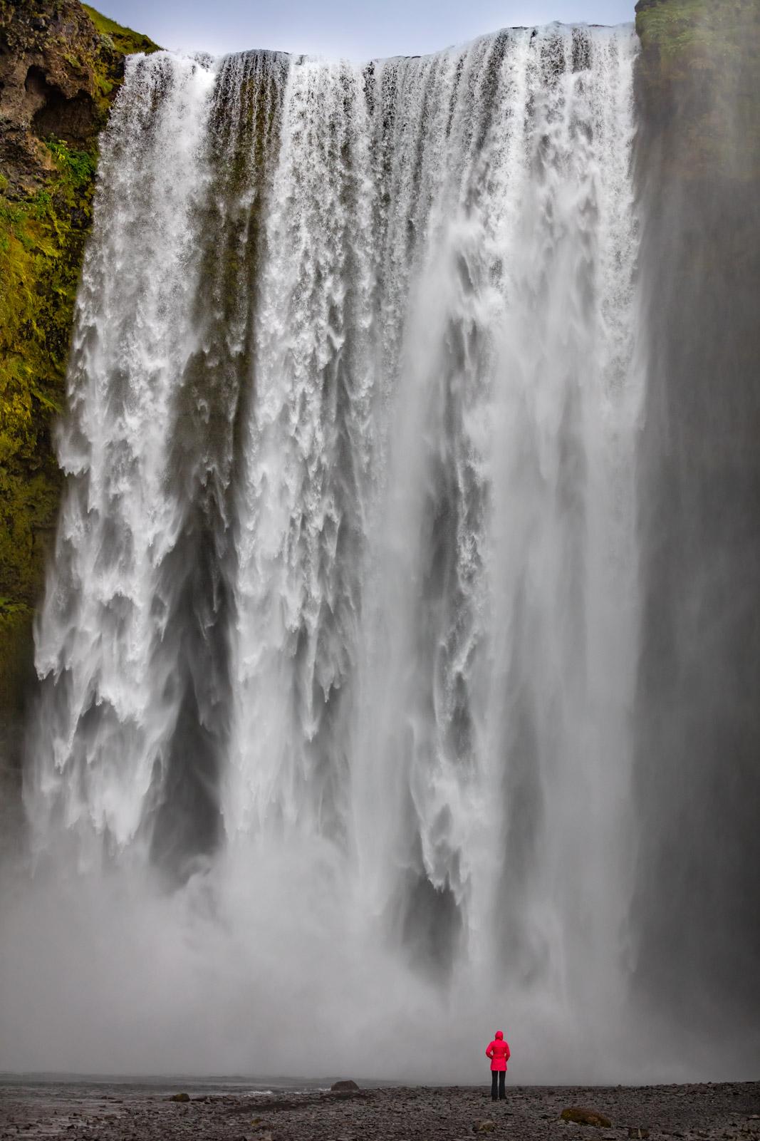 iceland, waterfall, skogafoss