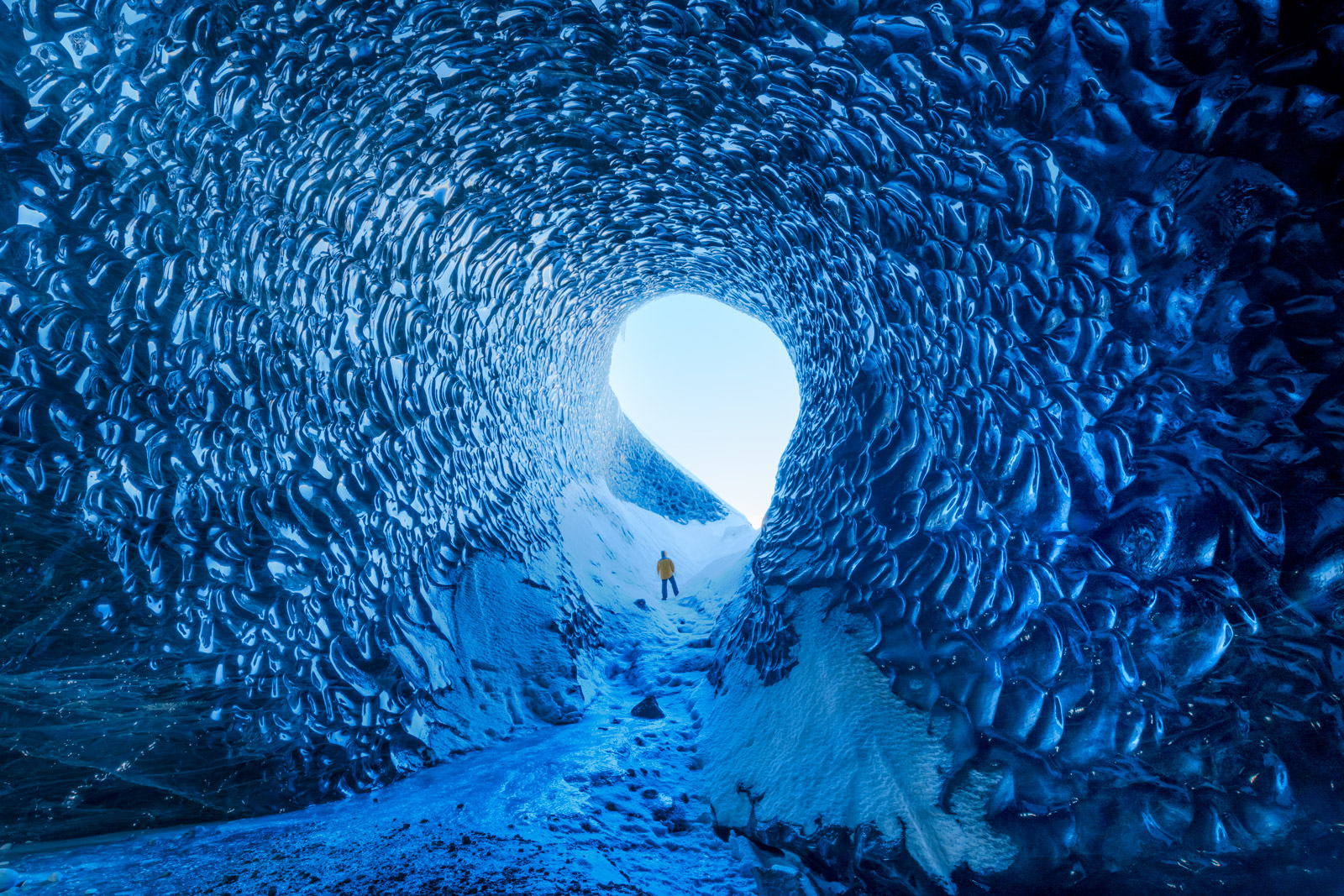 Iceland, Ice, Cave, Blue