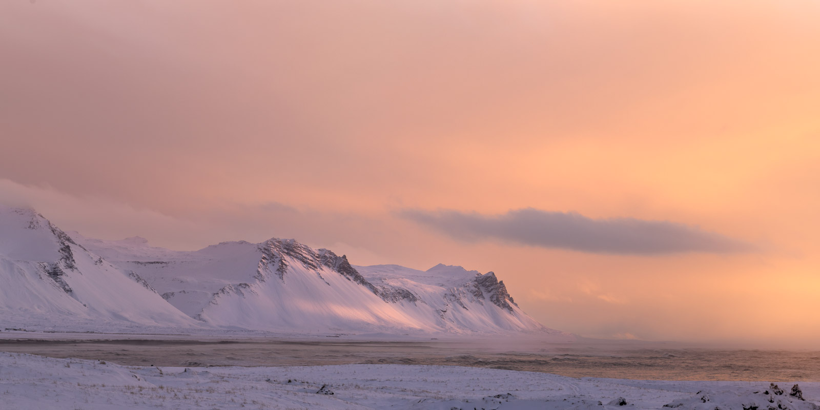 Iceland, Snaefellsness, Peninsula, Sunrise, Mountains, Ocean