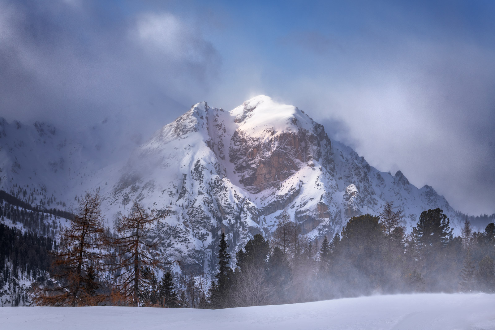 Italy, Dolomites, Mountains, Snow, Winds